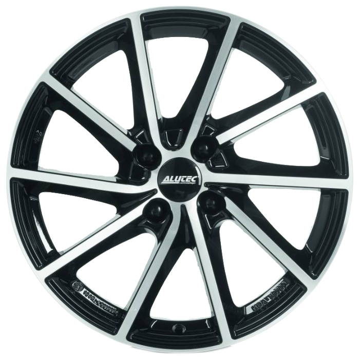 Легковой диск Alutec Singa 7x17 4x108 ET25 65,1 Diamond Black Front Polished